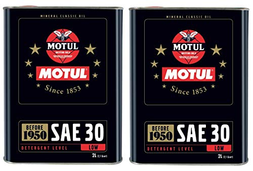 Motul Classic olie SAE30 vóór 1950 Monograde motorolie, 4 liter