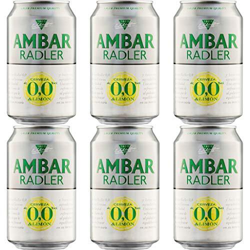Ambar RADLER 0.0% Alkoholfrei Bier. Dosen 330 ml. bier dose, biere der welt, bier set, geschenke für männer, ambar bier, adventskalender männer (12 Dosen, 0.33 l)