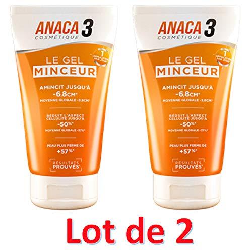 professionnel comparateur Gel minceur Anaca3 150 ml, lot de 2 choix