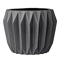 Dark gray modern planter