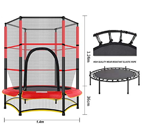 LGPNB 4.6ft indoor Trampoline belt guard net Household children's,Family entertainment and fitness Bouncing bed,Children's Garden Bouncers 1.6mX1.4m
