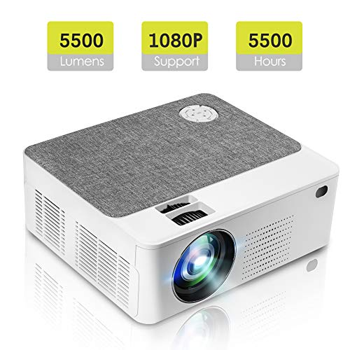 Tragbarer Mini Projektor mit 5500 Lumen 1280 * 800P LED Projektor 200