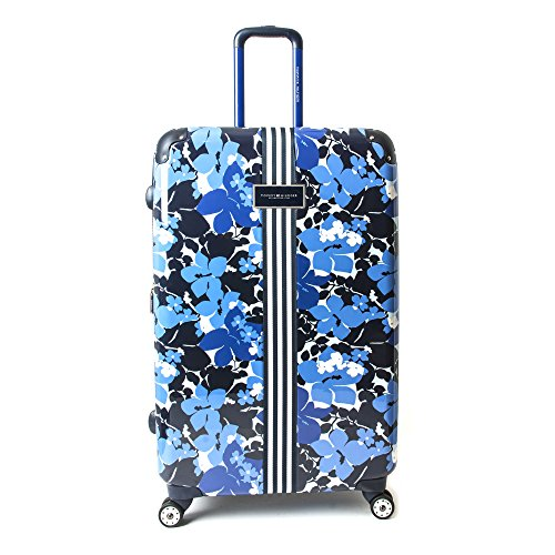 Tommy Hilfiger Hardside Spinner Luggage, Blue Floral, 21 Inch
