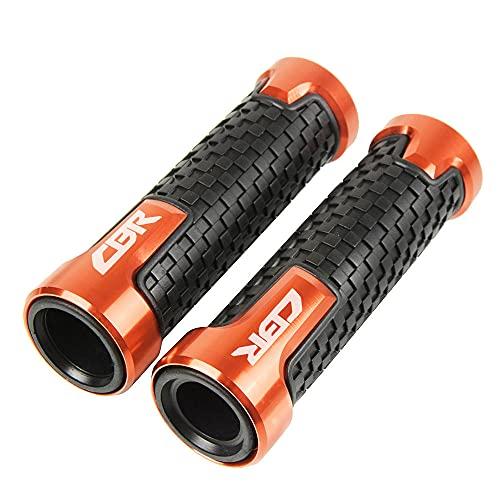 Accesorios de la motocicleta manillar puños 7/8 22mm mango barra agarre extremo, ajuste para H/onda CBR650F CBR900 CBR900RR CBR929RR CBR954RR CBR500R-naranja