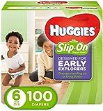 Huggies Little Movers Slip On Diaper Pants, Size 6, 100...