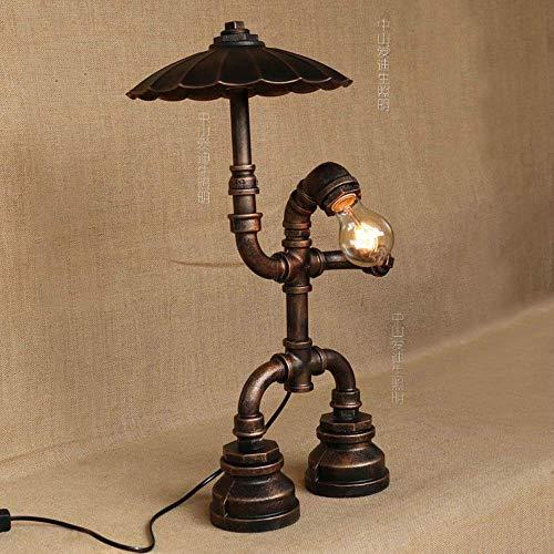 Robot paraplu waterpijp tafellamp vintage smeedijzeren industrie decoratie kantoor licht Edison antiek slaapkamer nachtkastje kantoor nachtlampje