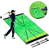 wiland Golf Hitting Mats for Indoor Outdoor,Mini Golf Simulators Putting Green Mat Residential Practice Training Aid Rug,Portable Artificial Turf Grass Mat for Swing Detection Batting, Game and Gift