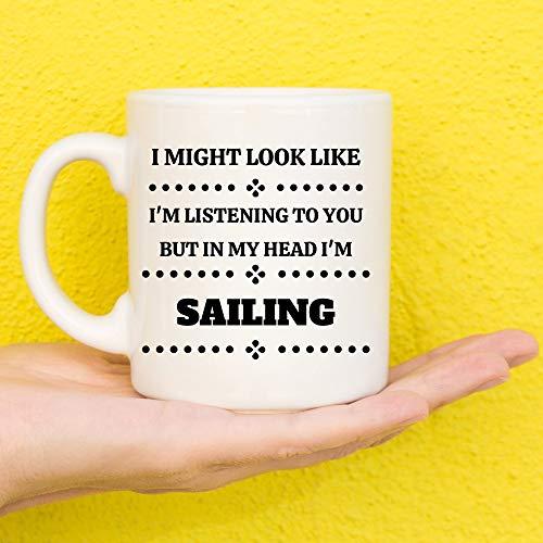 Regalos para marineros, regalos de vela, regalos de vela, regalos para amantes de veleros, regalos de velero, tema de vela, regalos náuticos, novedad taza de 11 onzas