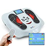 Heartline Foot Circulation massager - Medical machine Improves Circulation for feet and legs, 25 Massage Modes, Remote Control, 4 Body massage Pads