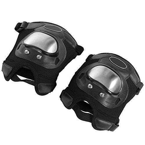 Protecciones de Rodilleras, Almohadillas para Rodilla Braces Protective Gear Adultos Almohadillas para Rodilla Shin Guard Set de Armadura Protectora, 2 Piezas, Negro