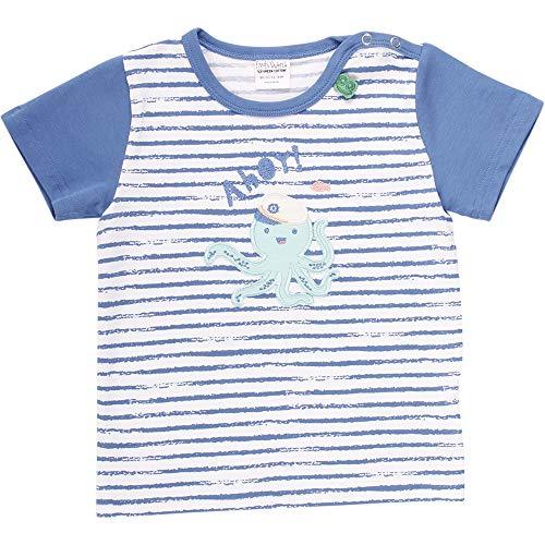 Fred'S World By Green Cotton Ocean Ahoy S/s T T-Shirt, Bleu (Blue 019403901), 92 Bébé garçon