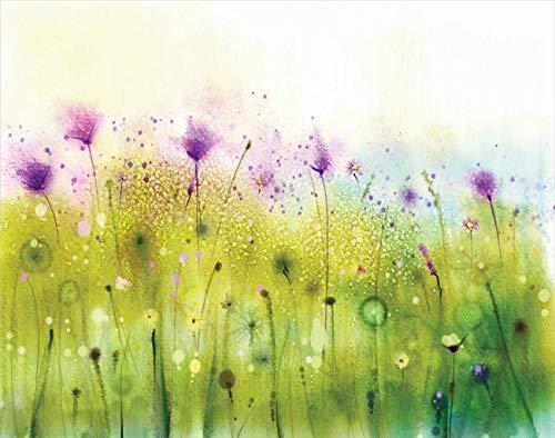 Y·JIANG Pintura por números púrpura Cosmos Flora acuarela DIY lienzo acrílico pintura al óleo por números para adultos niños decoración de la pared del hogar, 40,6 x 50,8 cm
