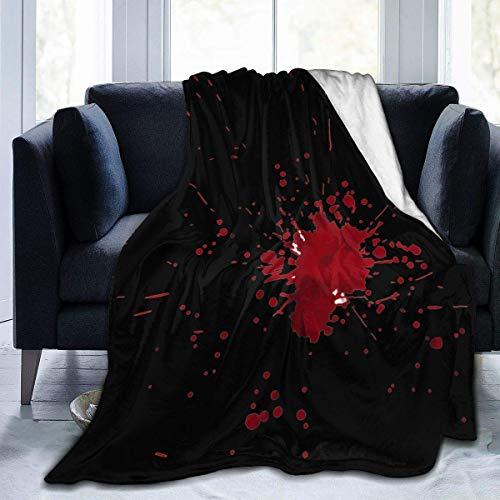 Manta de Lana, Manta de Tiro Unisex para Hombres con Mancha de Sangre, Manta de Lana de Felpa, Manta de Felpa para Hombres y Mujeres