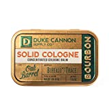 Duke Cannon Supply Co. - Solid Cologne Balm, Bourbon (Buffalo Trace Bourbon Fragrance) (1.5 oz) Concentrated Mens Cologne Concentrated Balm - Warm, Woodsy, Oak Barrel Scent