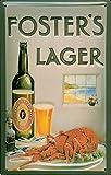 Cerveza de diseño de - Foster de Stock de cerveza - 20 x 30 cm con diseño de la placa de retro de la placa de metal tin Sign