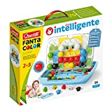 Quercetti 4210 Quercetti-4210 Pixel Junior-Steckspiel, Farbspiel, Multicolor -