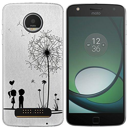 Easbuy Handy Hülle Soft Silikon Hülle Etui Tasche für Lenovo Motorola Moto Z Play Z Force Z Force Droid Smartphone Cover Handytasche Handyhülle Schutzhülle