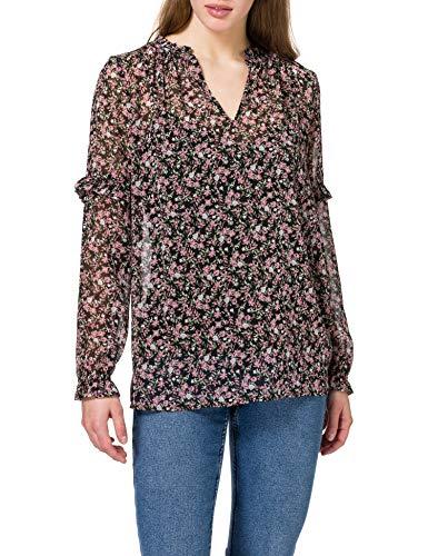 edc by Esprit 021CC1F310 Camicia da Donna, 003/Black 3, M