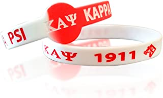 Greekin' It Kappa Alpha Psi Fraternity Silicone Bracelets (2 Bracelets per Pack)