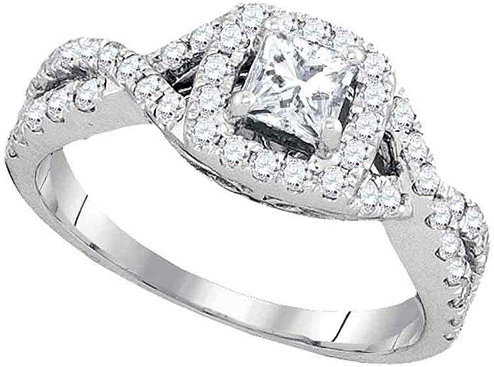 Dazzlingrock Collection Super-cheap 14kt White Diamond Gold Princess Ranking TOP4 Womens