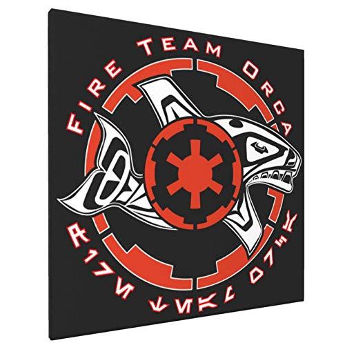 Cuadro de la pintura de la pared del equipo de fuego Orca...