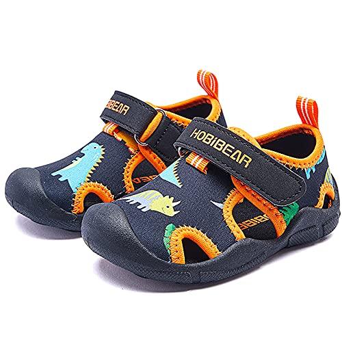 Scarpe da Immersione Scarpe da Bambini Acqua Estivi Sandali Sportivi Ragazzi Ragazze Sandali(Nero arancio,21EU)