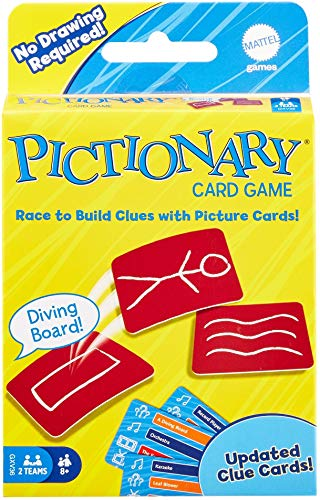 Pictionary Kartenspiel, EIN tolles Geschenk für Kinder, Familie oder Erwachsene, 8 Jahre und älter.