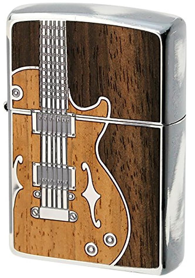 消化アンティークプラグZIPPO(ジッポー) オイルライター NO200 ANTIQUE Guitar シルバー 1201S442