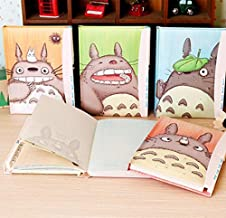 Thedmhom 1 Pcs Cute Cartoon Anime Cat 32K Totoro Password Notebook with Ball Pen Graffiti Thickened Sketchbook Painting Sketch Homework Locked Diary Book Journal Office School Student Kids Gift Set
