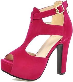 78ac9178ae7 Super frist Women s Sexy Ankle Strap Stiletto Heel Platform High Heel Dress  Heel Party Pumps