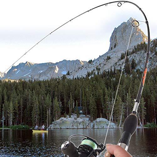 CPAZTSpinnende Angelrute 2-8g Test Schnelle Aktion 2.1m Gießrute Für leichte Jigging Forellenrute mit Fester Spitze 2 Abschnitte Carbonrute 2.1 m Schwarz