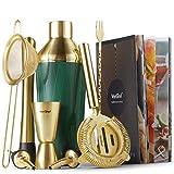 VonShef 9-teiliges Cocktail-Set - Grün & Gold Cocktail Set Shaker