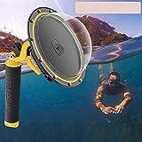 hifuture porta dome per gopro hero 9, impermeabile, 30 m, copertura subacquea, con custodia per fotocamera