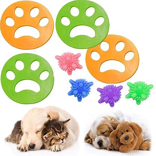 4 Pcs Haustier Haarentferner für Wäsche ,Tierhaarentferner Haustier Haarentferner Flusensiebe für Waschmaschine Haarfänger Haarentfernung +4 Pcs Wäscherei Bälle für Hundehaar, Tierhaar & alle Haustier