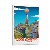 ASDWS Cote D'Azur Frankreich, Leinwand-Kunst-Poster und