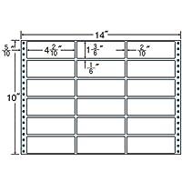 東洋印刷 タックフォームラベル 14インチ ×10インチ 18面付(1ケース500折) M14B