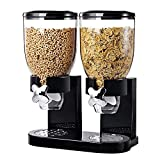 Dry Food Dispenser, Food Dispenser, Indispensable Dry Food Dispenser Single Control-Double Cereal Dispenser with Portion Control, Cereals Storage, Breakfast Food Storage, Home Kitchen Storage GGITOO