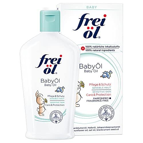 frei öl BabyÖl, essbar, 100 Prozent natürliche Inhaltsstoffe; begleitend bei Neurodermitits (Babys, Kinder, Erwachsene), parfümfrei, schützt vor Wundwerden, von Hebammen...
