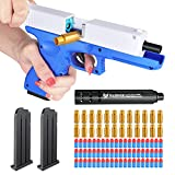 Toy Pistol with Magazine Shell Ejection Gun Toy Slide Action Soft Rubber Bullets Shooting Gun Toy for Training and Play