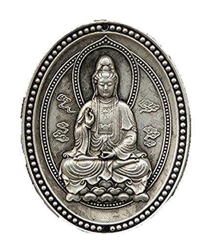 Fashion158 Amulett-Anhänger, chinesisch, argentanisch, exquisit, Buddhismus, Avalokitesvara, Guanyin, Kwan-Yin, Amulett