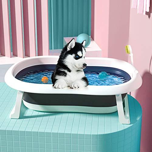 LANFENG Antideslizante Plegable Bañera Mascotas, Piscina para niños Plegable Bañera para bebés Plegable Plegable Bañera Bañera para bebés Adecuado para Gatos, Perros y niños