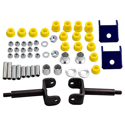 Waverspeed Front End Repair Kit with Bushings Pins for Club Car DS Golf Cart 1993-Up