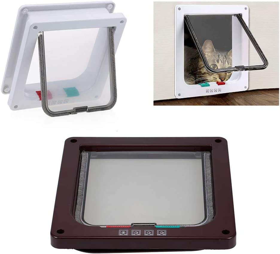 Galapara Cat Some reservation Door Pet Entry Safe Ferromagnetic Ca Locking Way Max 65% OFF 4