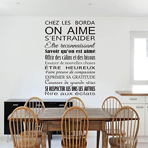 AKmene Etiqueta de la Pared calcomanía de Vinilo francés Arte Mural decoración del hogar 55x94 cm
