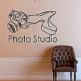 Applikation Po Studio SLR Kamera Wandaufkleber Vinyl Dekoration selbstklebende film Wandtattoos Abnehmbare Tapete Innen KunstCM xcm