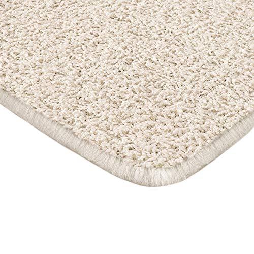 Floori Shaggy Hochflor Teppich - 100x150cm - moderner Wohnzimmerteppich - Creme