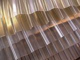 PVC - Lichtplatte Profil 70/18 Trapez - transparent (klar) Stärke 1,2 mm - Nutzbreite: 980 mm - Preis: 8,90 m²