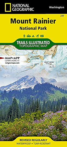 Mount Rainier National Park (National Geographic Trails Illustrated Map, 217)