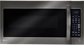 LG 2-cu ft Over-the-Range Microwave with Sensor Cooking (Fingerprint-Resistant Black Stainless Steel)