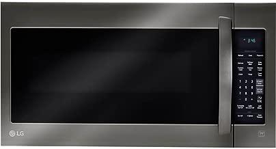 LG 2-cu ft Over-the-Range Microwave with Sensor Cooking (Fingerprint-Resistant Black Stainless Steel)
